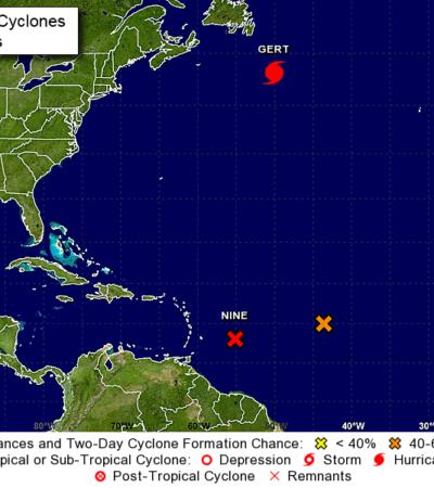 Emiten 'alerta azul' por depresión tropical en el Atlántico con potencial de afectar costas de Quintana Roo