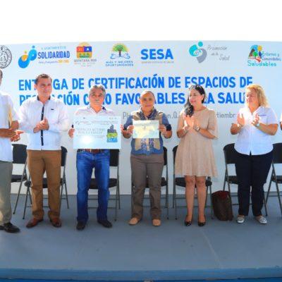 Invierten más de 20 mdp para recuperar y construir espacios públicos en Solidaridad