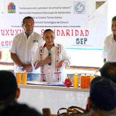 Recorre Alcaldesa comunidad de Uxuxubi y anuncia apoyos y proyectos