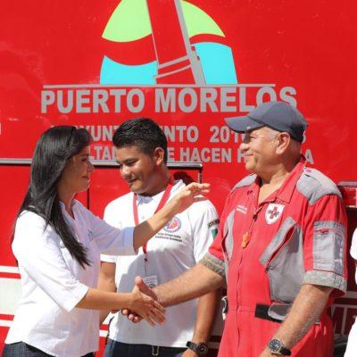 Parte equipo de rescate y apoyo de Puerto Morelos a zonas afectadas por sismo