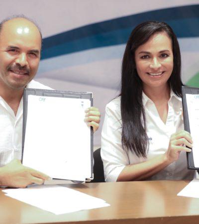 Formalizan gobierno de Puerto Morelos y CFE la conversión de la red eléctrica en el casco antiguo