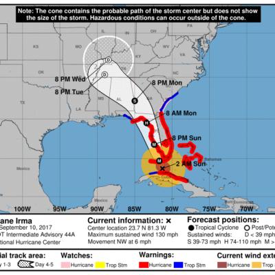 SE FORTALECE 'IRMA' ANTES DE AZOTAR A FLORIDA: El huracán se convierte otra vez en categoría 4 al aproximarse a Los Cayos