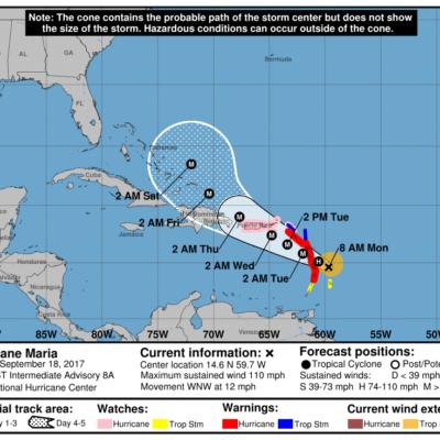 MONITOREO EN EL ATLÁNTICO: Huracán 'María' sigue ganando fuerza y golpeará otra vez a islas del Caribe
