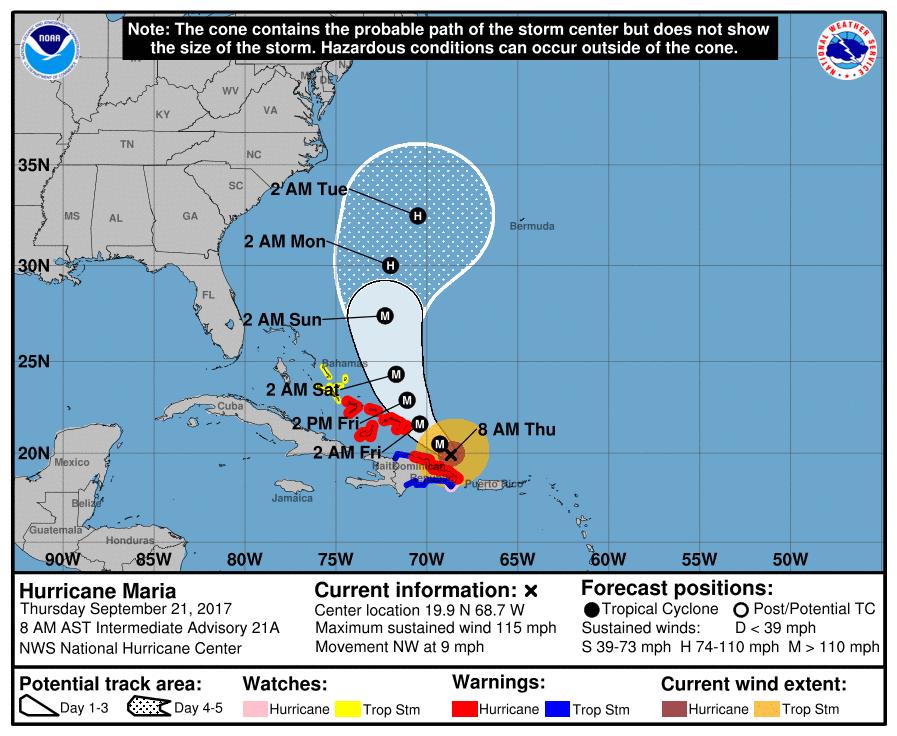 ALERTA EN EL CARIBE: Tras golpear a Puerto Rico, huracán 'María' desata su fuerza contra República Dominicana