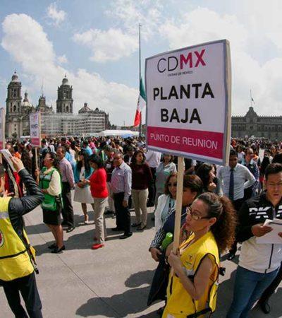 SUENA LA ALERTA SÍSMICA EN LA CDMX: Con un macrosimulacro, conmemoran el terremoto de 1985