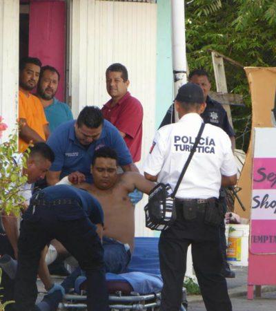 BALEADO EN EL CENTRO DE PLAYA: Le disparan a un hombre cerca de la Quinta Avenida y a dos cuadras del Palacio Municipal