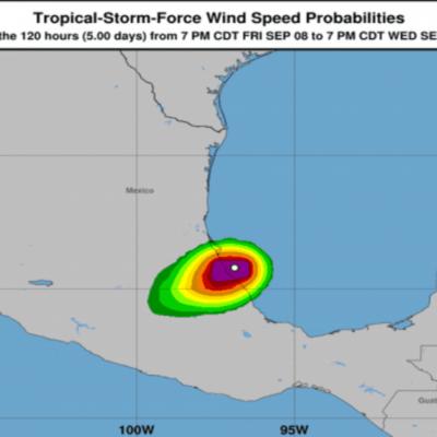 Tras tocar tierra en Veracruz como huracán 1, 'Katia' se degrada y deja mucha lluvia en el centro del país