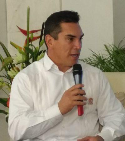 """""""Nuestros retos son comunes"""", dice 'Alito', el gobernador de Campeche desde Chetumal"""