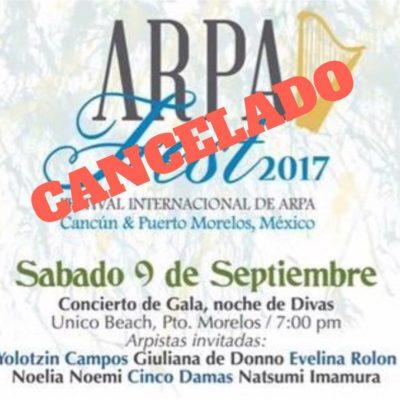 Cancelan concierto de Arpafest por falta de apoyo