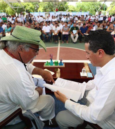 """""""TENGAN LA SEGURIDAD DE QUE LES ESCUCHAMOS"""": Atiende Gobernador en audiencia pública a ciudadanos de Cancún"""