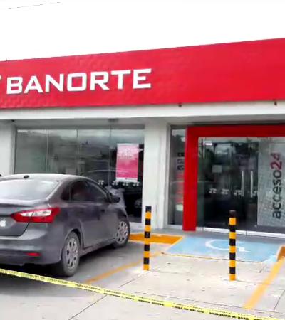 ASALTAN BANORTE DE LA PORTILLO: Tres detenidos y un herido de bala en nuevo atraco en Cancún