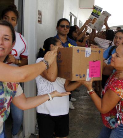 ABREN 15 CENTROS DE ACOPIO EN CANCÚN: Focalizan apoyos para Chiapas, Oaxaca y Morelos
