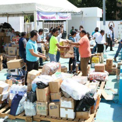 Envía DIF Quintana Roo camión con 14 toneladas de ayuda para Puebla