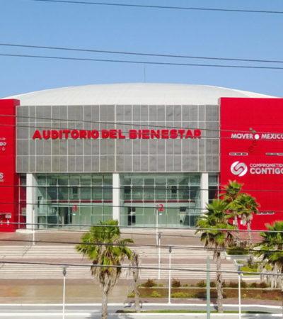 SE CUMPLE UN AÑO DEL MAYOR FIASCO DE BORGE: Monumento emblemático de 'Beto' en Cancún, el 'Auditorio del Bienestar' no será usado para eventos masivos