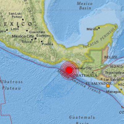 FUERTE SISMO SACUDE A BUENA PARTE DE MÉXICO: Reportan temblor de magnitud 8.4 con epicentro al suroeste de Tonalá; minimizan riesgo de tsunami; confirman 3 muertos en Chiapas y 2 en Tabasco