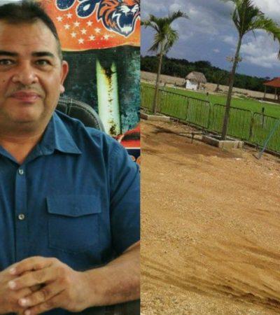 TIENE ERIC CAPRICHOS CAROS: A espaldas de taxistas, construye líder sindical en Cancún su propio estadio de beisbol con valor de 75 mdp