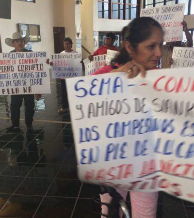 PROTESTAN EN EL CONGRESO POR PLANES DE 'PROTECCIÓN' PARA BACALAR: Sigue la inconformidad de ejidatarios y propietarios en torno a la laguna