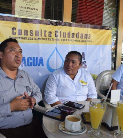 Ante abusos de Aguakán, impulsan iniciativa para reformar Ley de Cuotas y Tarifas de Agua Potable