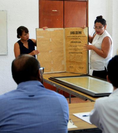 Recibe Congreso material histórico restaurado