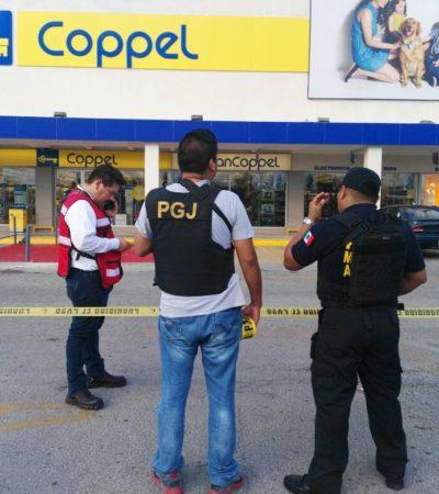 ASALTO ARMADO A BANCOPPEL DE LA NICHUPTÉ: Dos empistolados enmascarados atracan sucursal en Cancún