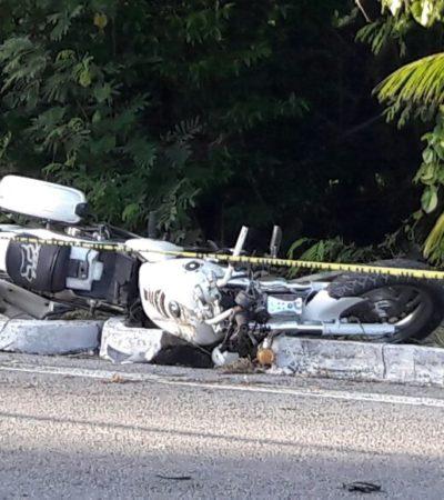Muere motociclista en laZonaHotelera de Cancún