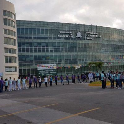 PROTESTA ESTUDIANTIL EN LA UQROO: Alumnos de la Escuela de Medicina toman instalaciones ante denuncia no atendida por Rector