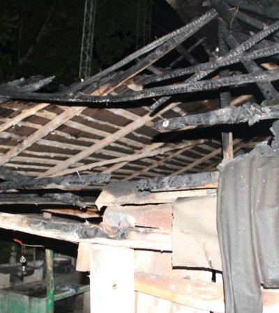 Se incendia partida de la Policía Rural Estatal en Javier Rojo Gómez