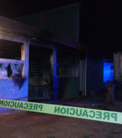 Atacan con bombas molotov presunta narcotiendita en Chetumal