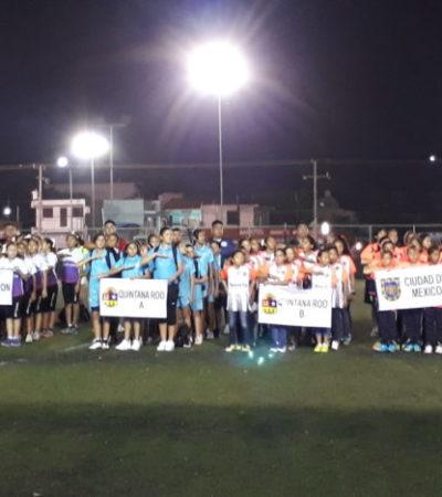 Recibe Playa del Carmen a niñas futbolistas de 10 estados de la República