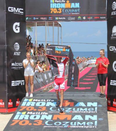 Canadá y Nueva Zelanda triunfan en el 'medio Ironman'
