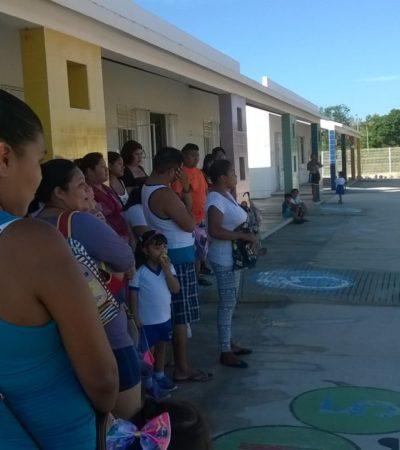 Suspenden padres clases en plantel sin barda perimetral en Cancún