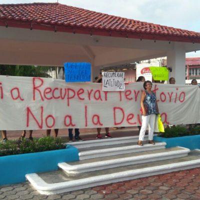 Denuncia Latitud 21 intento de agresión en informe en Puerto Morelos