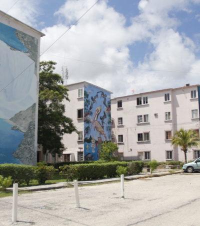 MURALES DE LA BONAMPAK: De cómo unos grises edificios del Fovissste se convirtieron en ventanas de arte y color para Cancún