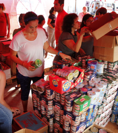 SE VUELCA CANCÚN EN AYUDA A DAMNIFICADOS: Cruz Roja, principal punto de acopio de la ayuda tras el sismo que estremeció a México