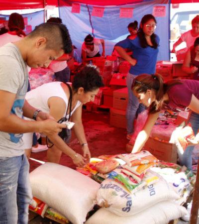 ENVÍA CRUZ ROJA CANCÚN 40 TONELADAS DE AYUDA: Primer embarque es para afectados por sismo en Oaxaca; preparan otro para la CDMX