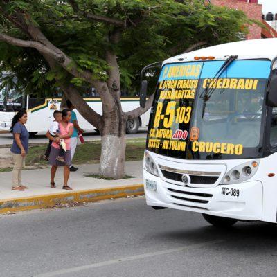 Verificarán a unidades del transporte público a partir de octubre próximo en Cancún