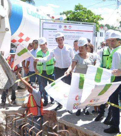 Da Alcalde banderazo a la construcción de domo deportivo en la SM 77 de Cancún