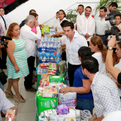 Visores ciudadanos testifican entrega de donativos a damnificados