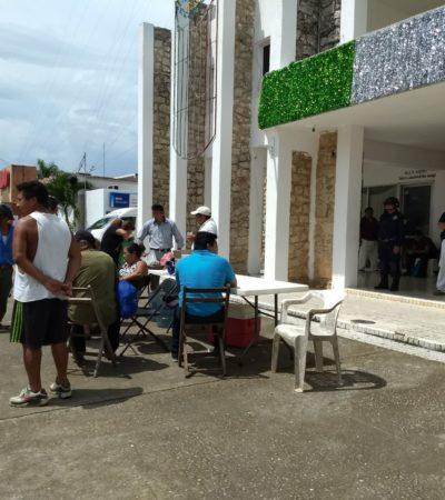 REINICIAN EX TRABAJADORES PLANTÓN EN PALACIO: Sin solución, conflicto laboral en Carrillo Puerto