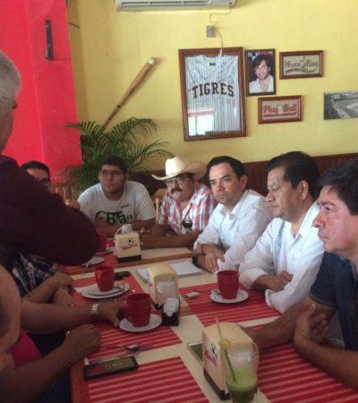Exponen ejidatarios a dos diputados federales quejas por pretendida ANP en Bacalar