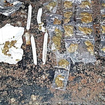 Asegura Policía Estatal presunta droga en el Cereso de Cancún