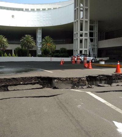 DERRUMBES EN CUERNAVACA POR SISMO: Reportan daños en construcciones en la capital de Morelos por el movimiento de tierra; cierran aeropuerto de la CDM por daños