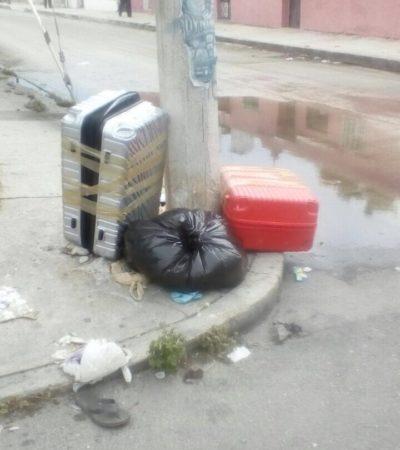 EL HORNO NO ESTÁ PARA BOLLOS: Causan psicosis maletas abandonadas en la SM 70 de Cancún