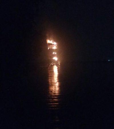 Provoca rayo incendio de palapa en la Zona Hotelera de Cancún