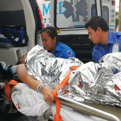 ACCIDENTE EN EL MAR: Chocan en Punta Allen 2 lanchas con turistas italianos;  saldo de 6 heridos, uno de ellos grave