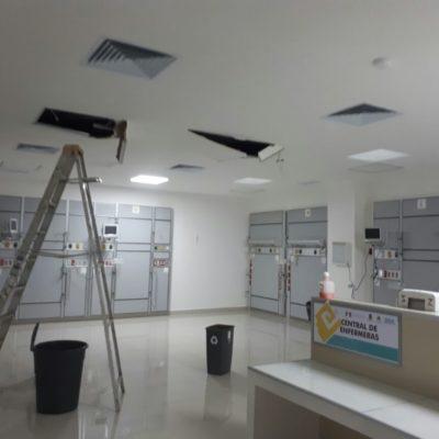 HACE AGUA EL HOSPITAL GENERAL DE CANCÚN: Virtual estado de emergencia por las lluvias en la Unidad de Cuidados Intensivos Neonatales