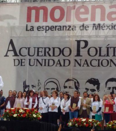 Se anexan más políticos quintanarroenses al Acuerdo de Unidad de AMLO y Morena