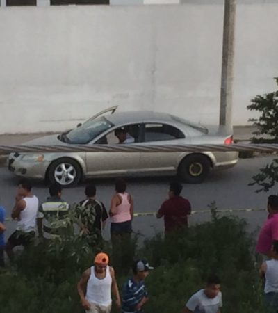 EJECUTADO EN VILLAS OTOCH PARAÍSO: Balean a un hombre dentro de su automóvil en la Región 259