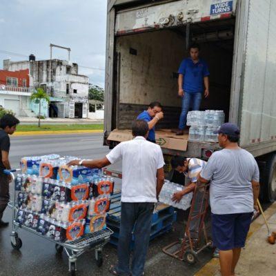 SOLIDARIDAD DE HERMANOS: Envían oaxaqueños 10 toneladas de ayuda desde Cancún a Oaxaca