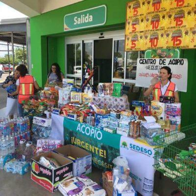 Instala Sedeso centros de acopio en Chetumal en apoyo a damnificados del sismo